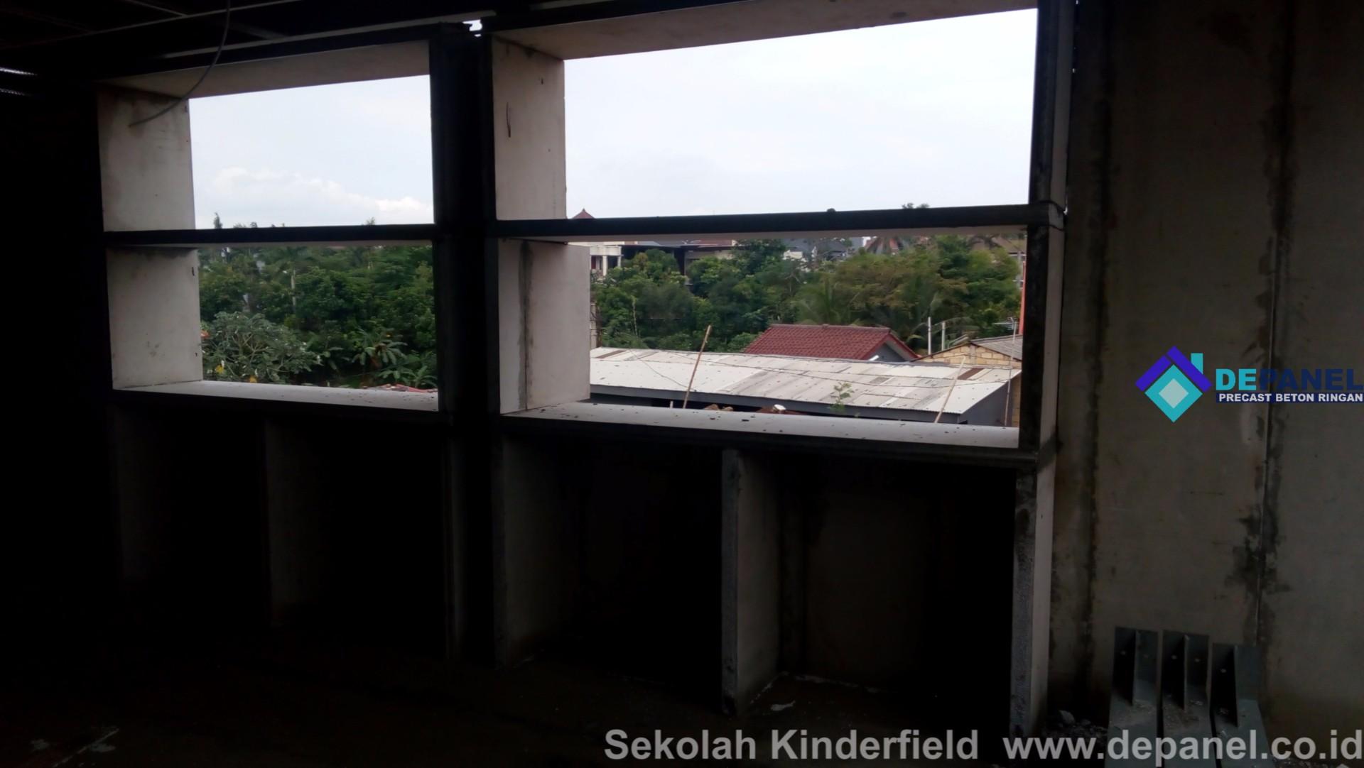 panel beton, beton ringan, kinderfield, sekolah, panel dinding, panel lantai