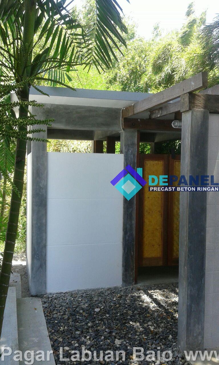 panel beton, beton ringan, panel pagar, dinding pagar, labuan bajo, pagar labuan bajo