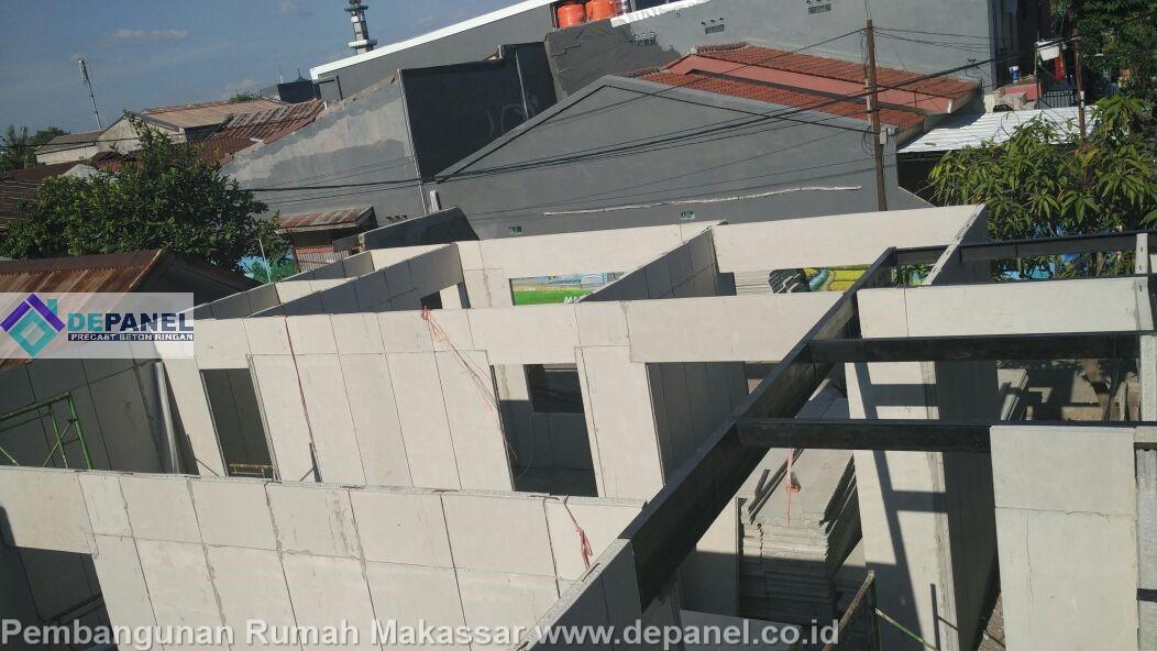 depanel, panel beton, panel dinding, panel lantai, rumah makassar, beton ringan