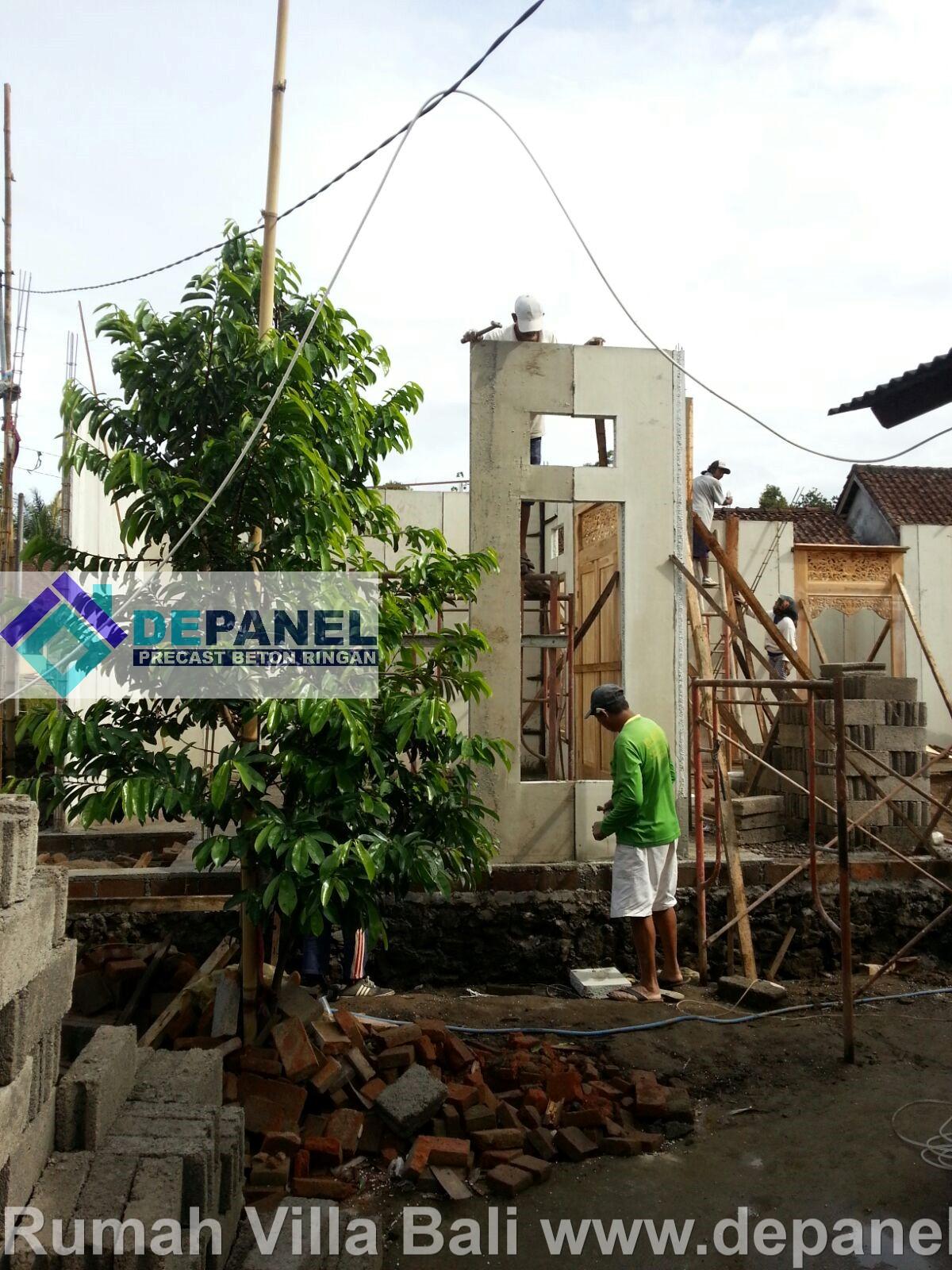 rumah villa bali, pembangunan villa, panel beton, beton ringan, panel dinding, panel lantai, bali, depanel
