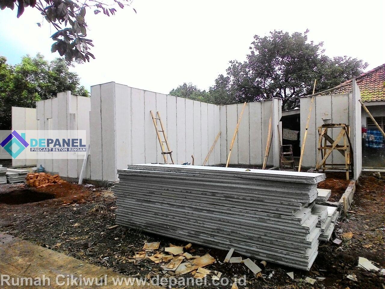 panel, beton, ringan, rumah contoh, depanel,rumahcepat, rumah cepat, precast, rumah cikiwul