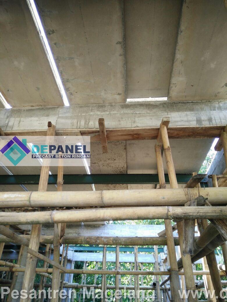 panel beton, beton ringan, depanel, precast, boarding school, pesantren, magelang
