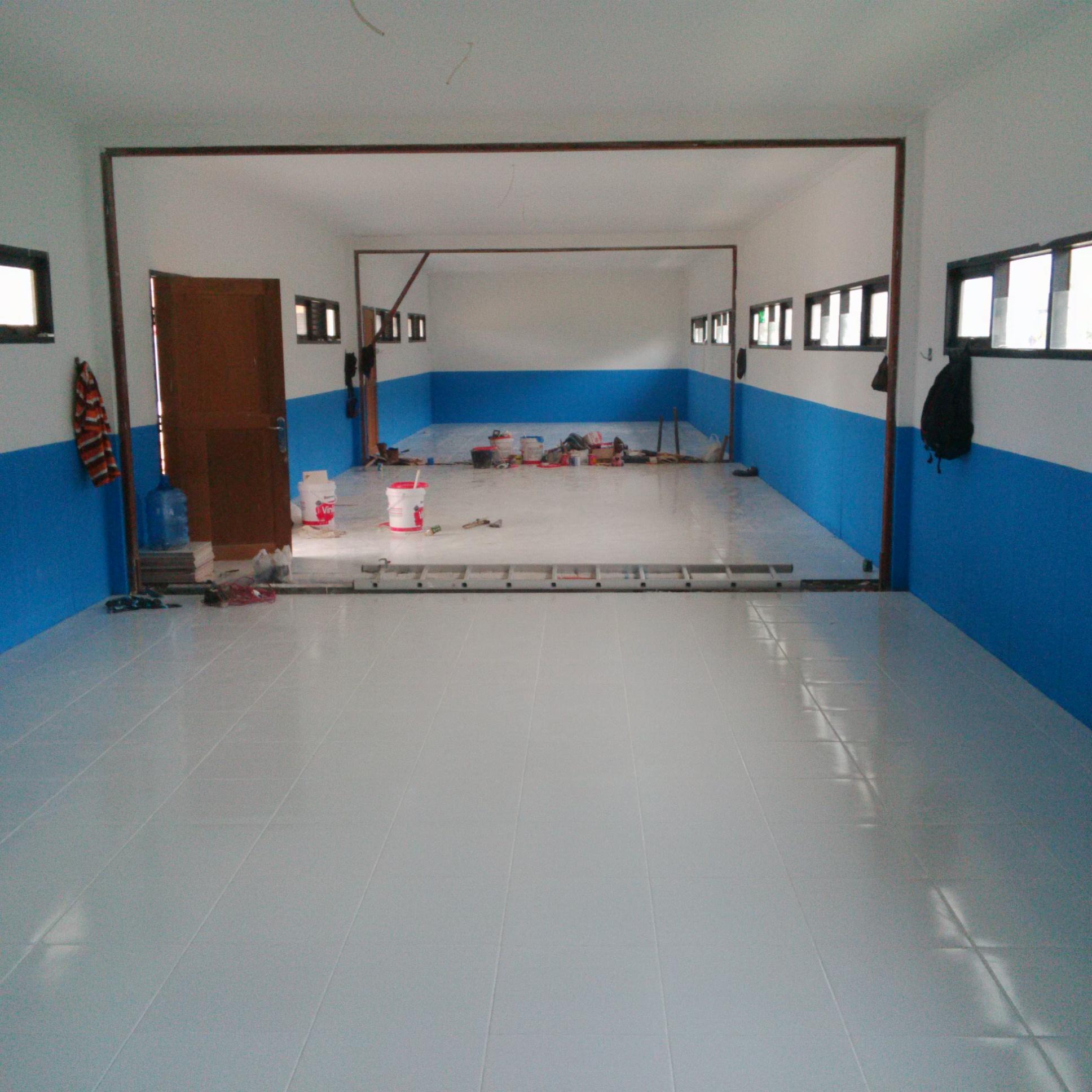 pesantren, ibnul qoyyim, balikpapan, pembangunan, depanel, panel beton, panel dinding