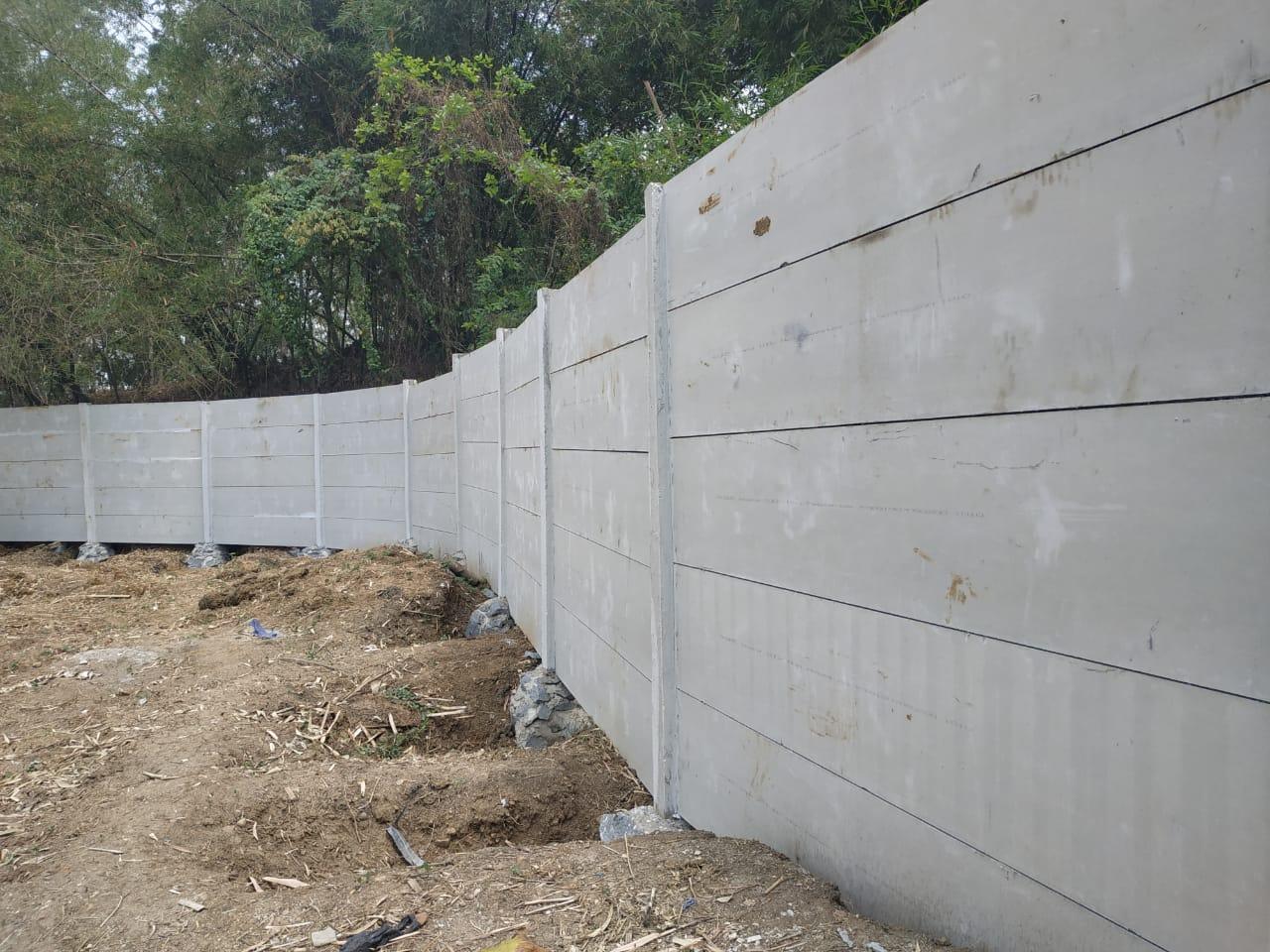pagar, beton, panel, beton ringan, depanel