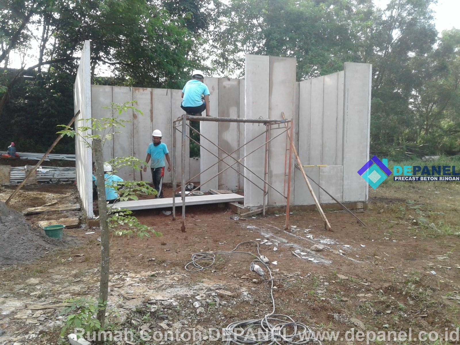 panel, beton, ringan, rumah contoh, depanel,rumahcepat, rumah cepat, precast