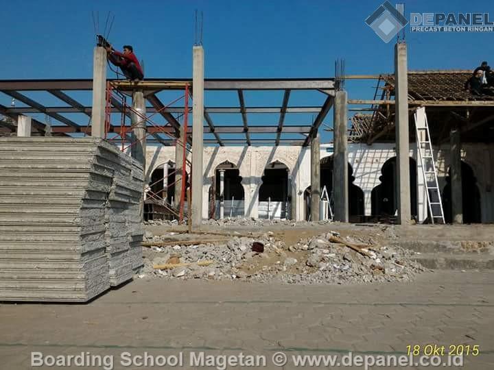 panel beton, beton ringan, depanel, precast, boarding school, magetan, jawa timur