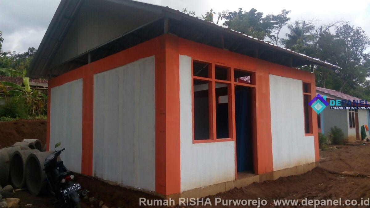 RISHA, rumah instan, rumah cepat, panel beton, panel dinding, beton ringan, precast