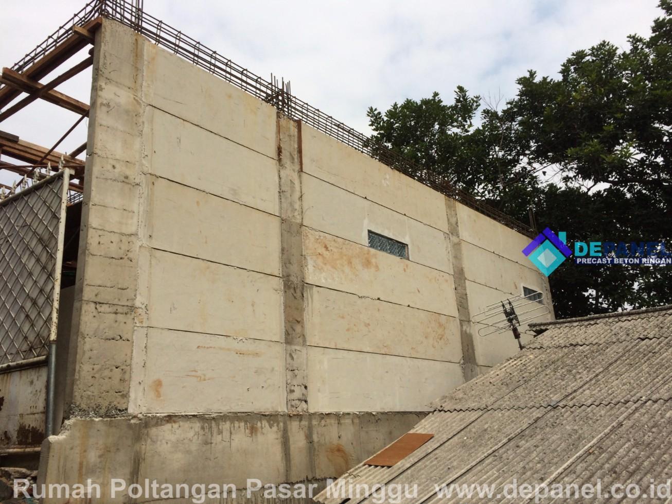 panel beton, beton ringan, depanel, panel dinding, rumah, poltangan, pasar minggu, jakarta selatan
