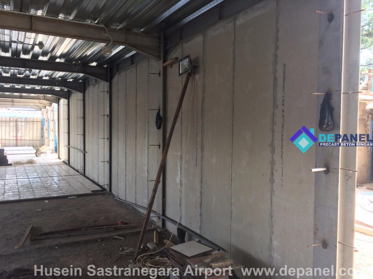 airport, husein sastranegara, bandung, panel dinding, beton ringan, panel beton, depanel, panel